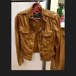 Lucky brand leather jacket size xs